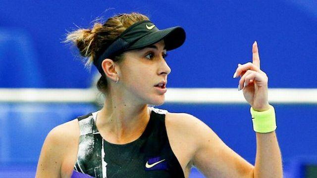 Belinda Bencic a signé un succès convaincant contre Mladenovic. Elle tentera d'enchaîner dans dix jours en Chine, au Masters. [AFP]