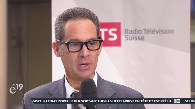 PLR distancé à Genève: la réaction du candidat aux Etats Hughes Hiltpold [RTS]