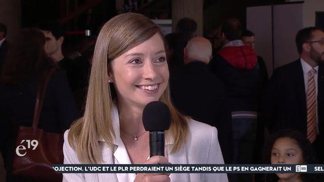 """Johanna Gapany (Verts) en 3e position provisoire à Fribourg pour les Etats: """"Ce qui aide, c'est les idées"""" [RTS]"""