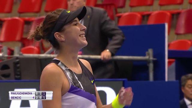 Finale, B. Bencic (SUI) A. Pavluchenkova (RUS) 3-6, 6-1, 6-1: victoire de Belinda Bencic à Moscou [RTS]