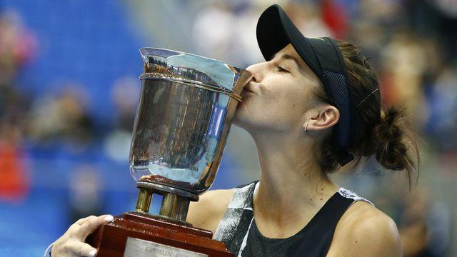 Belinda Bencic. Un doux baiser pour un quatrième trophée. Vivement le Masters [KEYSTONE]