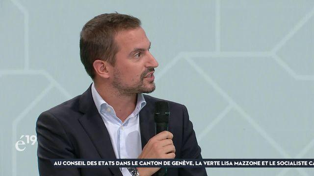 Nouvel élu à Genève, le PDC Vincent Maître voit l'adhésion à l'UE comme finalité à un accord-cadre [RTS]