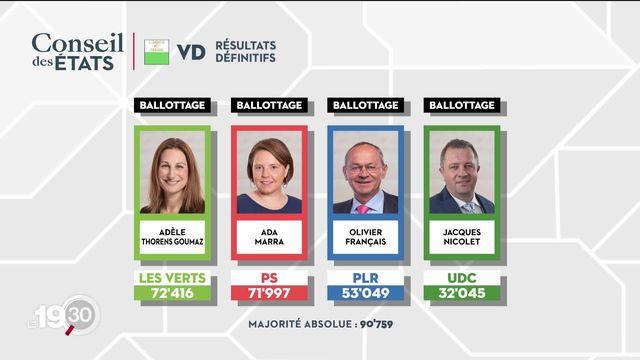 Le ticket rose-vert arrive en tête dans la course au Conseil des États dans le canton de Vaud. [RTS]