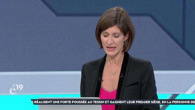 """L'analyse de Linda Bourget sur la non-réélection de Manfred Bühler (UDC-BE): """"C'est une perte à la fois pour la partie francophone et pour l'UDC, qu'il incarnait avec force"""" [RTS]"""
