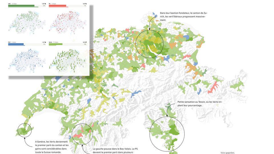 Elections: la nouvelle carte de la Suisse copie [RTS]