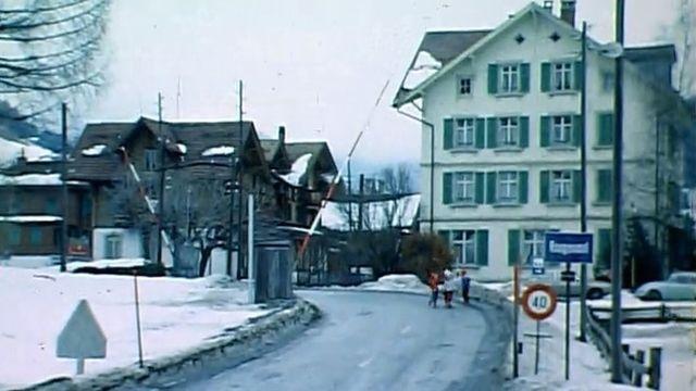 La gare de Rougemont en 1970. [RTS]