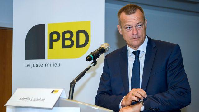 Martin Landolt, président du PBD. [Martial Trezzini - Keystone]