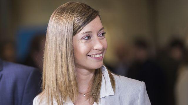 Johanna Gapany (PLR/FR). [Cyril Zingaro - Keystone]