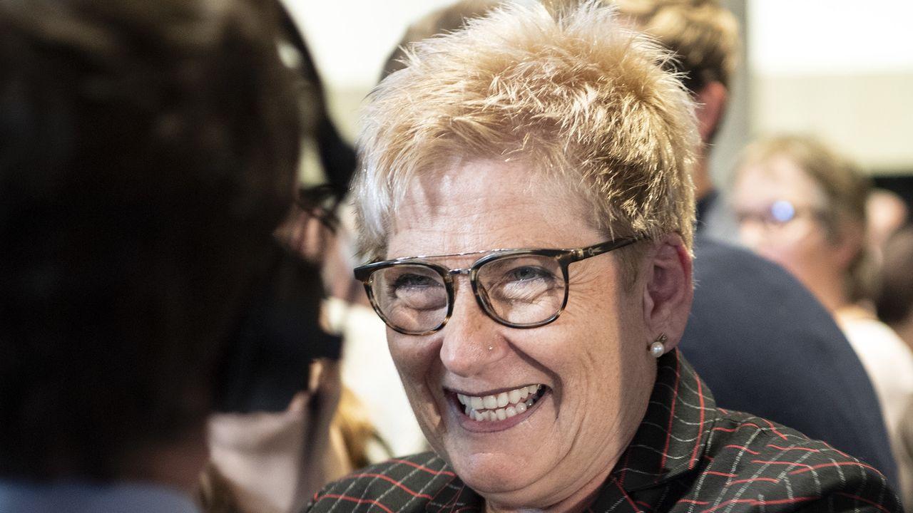 Beatrice Simon lors de la journée électorale du 20 octobre 2019, à Berne. [Peter Schneider - KEYSTONE/]