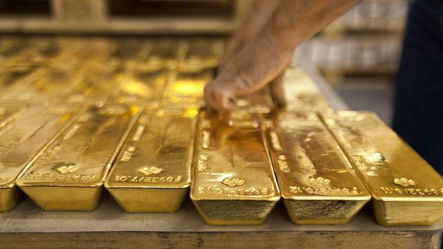 Des lingots d'or dans les coffres de la banque cantonale de Zurich. [Martin Ruetschi - Keystone]