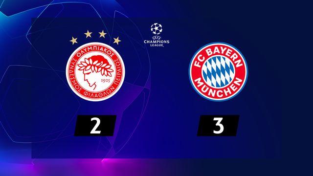 3e j. Gr.B, Olympiakos - Bayern Munich (2-3): résumé de la rencontre