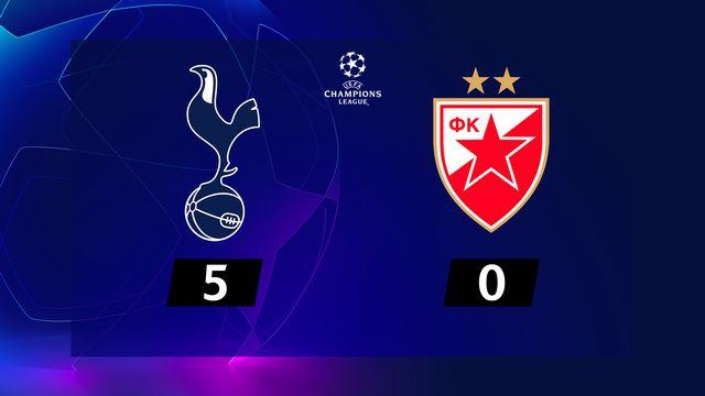3e j. Gr.B, Tottenham - ER Belgrade (5-0): résumé de la rencontre