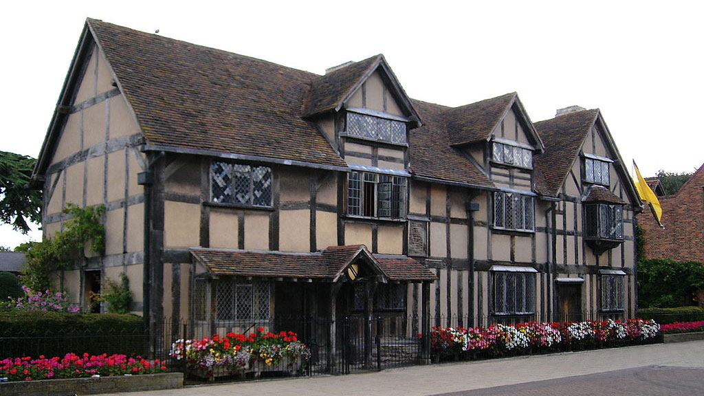 Maison natale de William Shakespeare à Stratford-upon-Avon (Warwickshire, Angleterre).