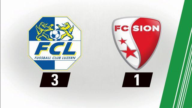 11e journée, Lucerne- Sion (3-1) [RTS]