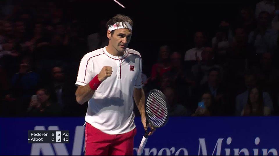 1-8: R.Federer (SUI) - R.Albot (MDA) (6-0, 6-3): Roger sans soucis en un peu plus d'une heure de jeu [RTS]