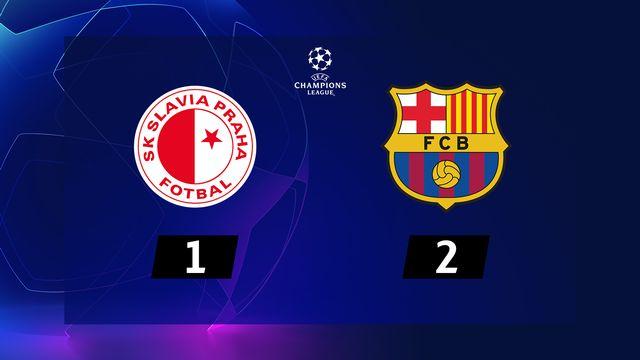 3ème journée, Sl.Prague - Barcelone (1-2): résumé de la rencontre