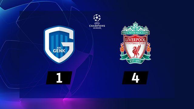 3ème journée, Genk - Liverpool (1-4): résumé de la rencontre