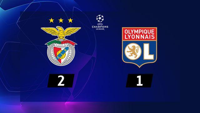 3ème journée, Benfica - Lyon (2-1): résumé de la rencontre