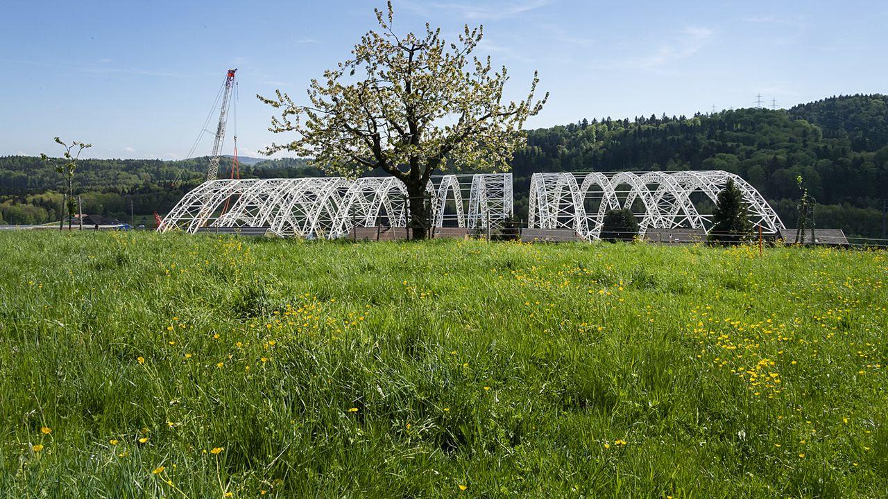 Après quinze ans de travaux, le site de la décharge de Kölliken va être rendu à l'agriculture. [Georgios Kefalas - Keystone]