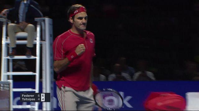 1-2: R. Federer (SUI) - S. Tsitsipas (GRE) (6-4, 6-4): le Bâlois s'impose en deux sets et jouera sa 15e finale dans son tournoi [RTS]
