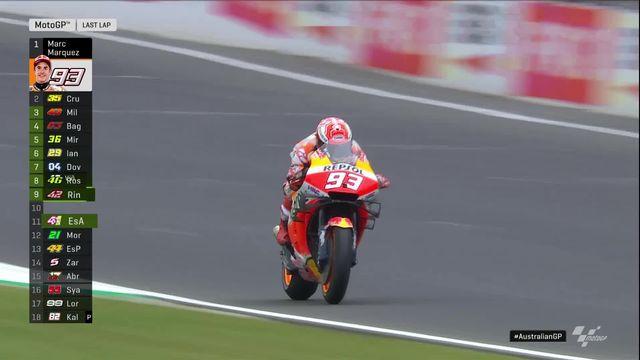 GP d'Australie (#17), MotoGP: Marquez (ESP) s'impose devant Vinales (ESP) qui chute lors du dernier tour [RTS]