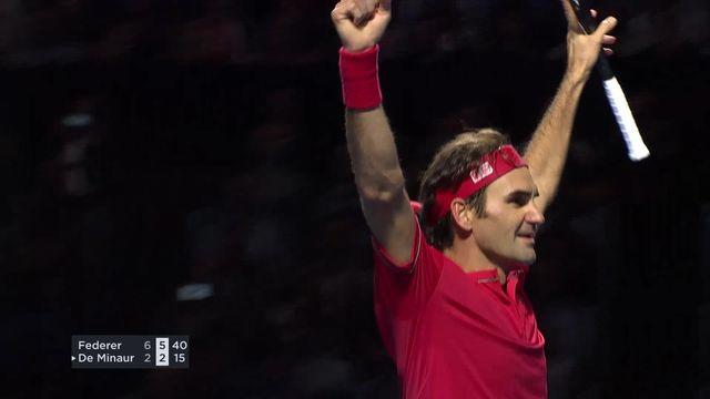 Finale: R.Federer - A. De Minaur (AUS)  (6-2, 6-2): Federer s'impose chez lui [RTS]