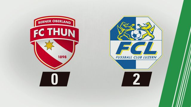 10e journée: Thoune - Lucerne (0-2) [RTS]