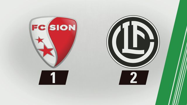 10e journée: Sion - Lugano (1-2) [RTS]