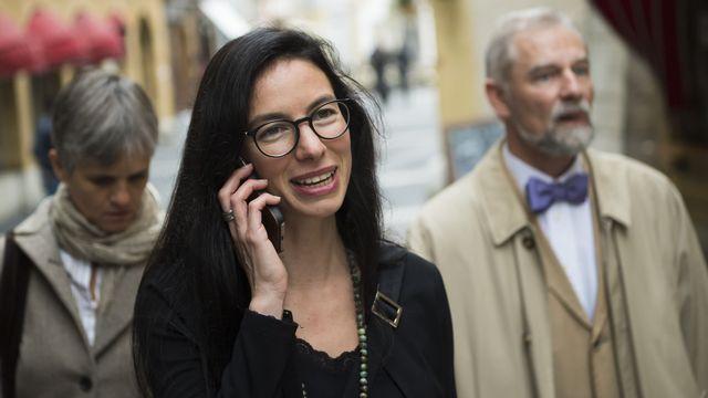 Céline Vara (Vert/NE) est la première femme écologiste à rejoindre la Chambre des cantons. [Jean-Christophe Bott^ - Keystone]