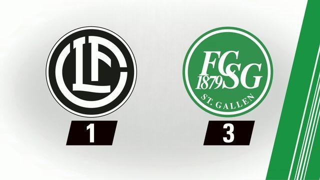 Football: Lugano - St-Gall (1-3) [RTS]