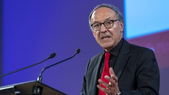 Yves Flückiger, recteur de l'Université de Genève. [Martial Trezzini - Keystone]