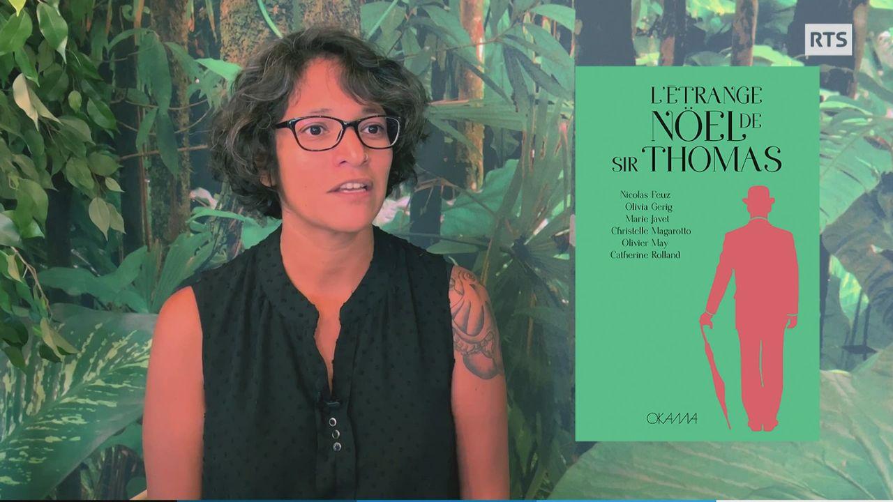 Laurence Malè, fondatrice de la nouvelle maison d'édition à Lausanne, OKAMA. [RTS]