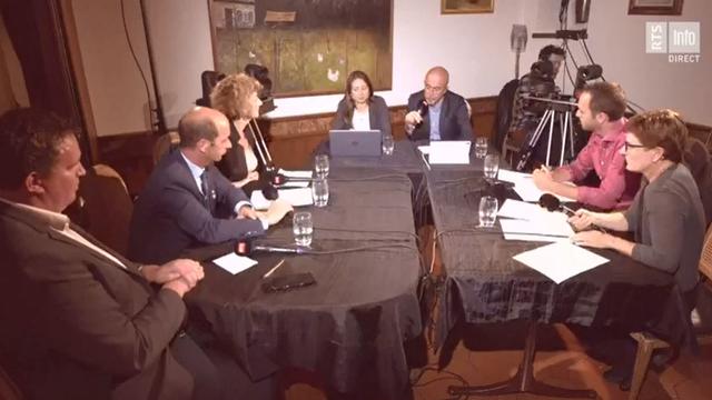 Le débat de Forum pour le 2e tour de l'élection au Conseil des Etats en Valais s'est déroulé à Saint-Maurice. [RTS]