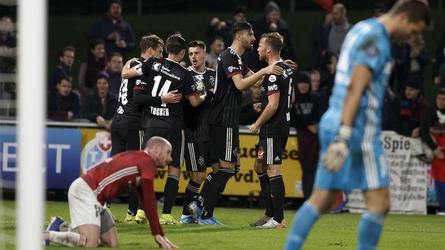 Bâle a arraché in extremis la victoire 2-1 face au Stade-Lausanne-Ouchy. [Salvatore Di Nolfi - Keystone]