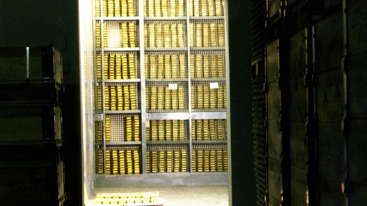 Les stocks d'or de la Banque nationale suisse. [Keystone]