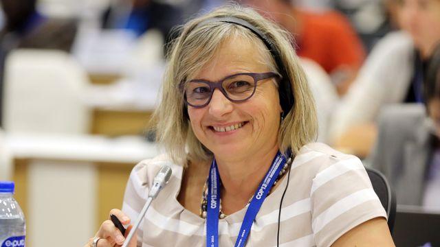 Anne Gabrielle Wüst Saucy représente la Suisse lors de l'UN Biodiversity Conference (Mainstreaming Biodiversity for Well-Being) en décembre 2016 à Cancún au Mexique. [Francis Dejon - IISD/ENB]