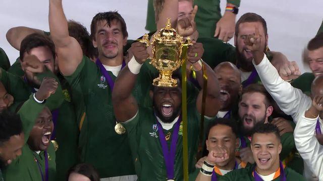 Finale, Angleterre - Afrique du Sud (12-32): la remise de la coupe aux Springboks [RTS]