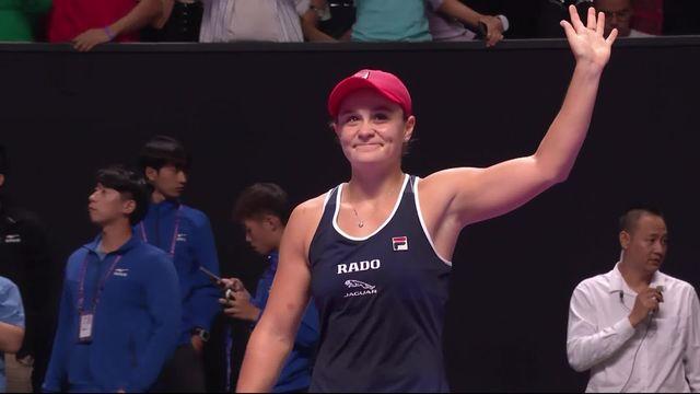 Finale: A.Barty (AUS) - E.Svitolina (UKR) (6-4, 6-3): la numéro un mondiale remporte son premier titre au Masters [RTS]