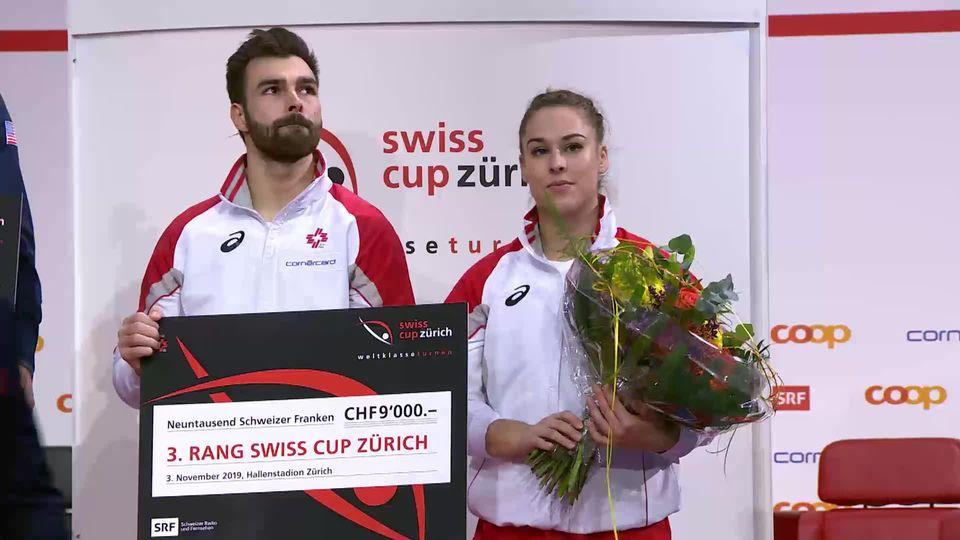 Giulia Steingruber et Oliver Hegi terminent sur le podium [RTS]