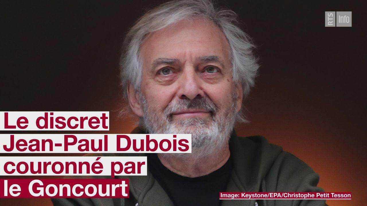 Le prix Goncourt 2019 attribué à l'écrivain toulousain Jean-Paul Dubois [RTS]
