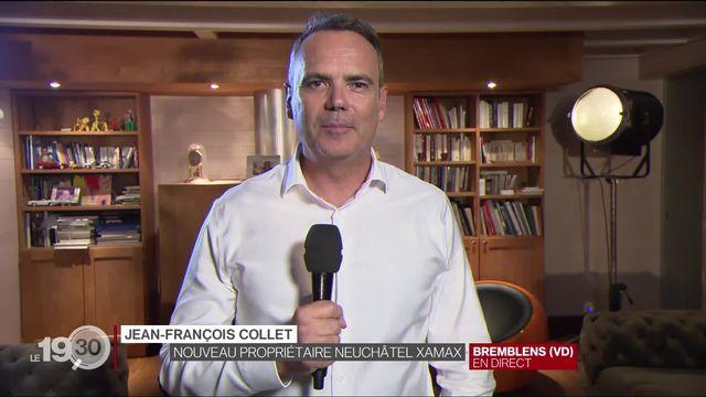 La réaction de Jean-François Collet, nouveau propriétaire du Neuchâtel Xamax [RTS]