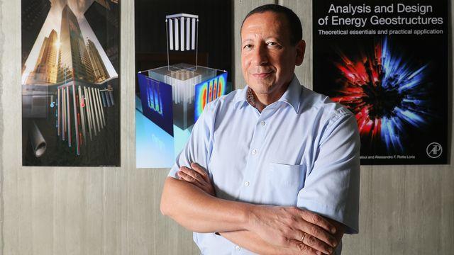Le professeur Lyesse Laloui dirige à l'EPFL le Laboratoire de mécanique des sols. Alain Herzog EPFL [Alain Herzog - EPFL]