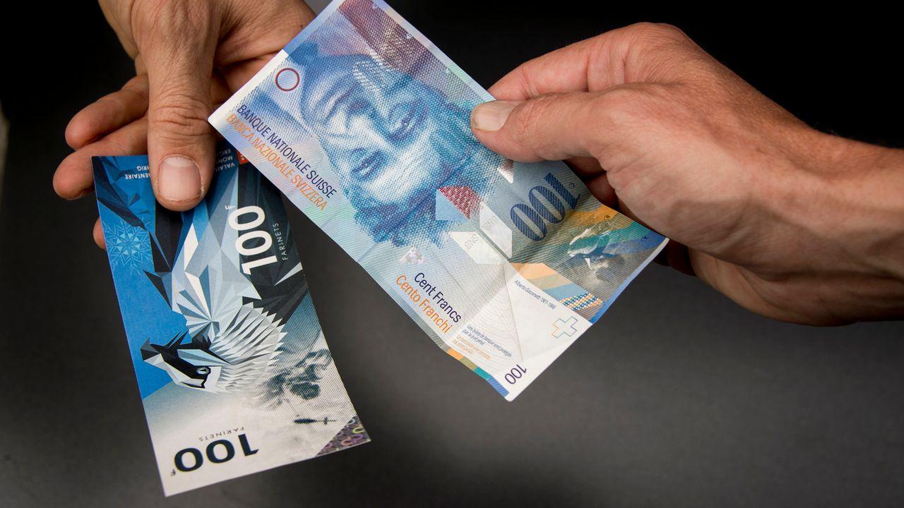La monnaie locale valaisanne Farinet a été lancée en mai 2017, avec 500'000 billets imprimés. [Olivier Maire - Keystone]