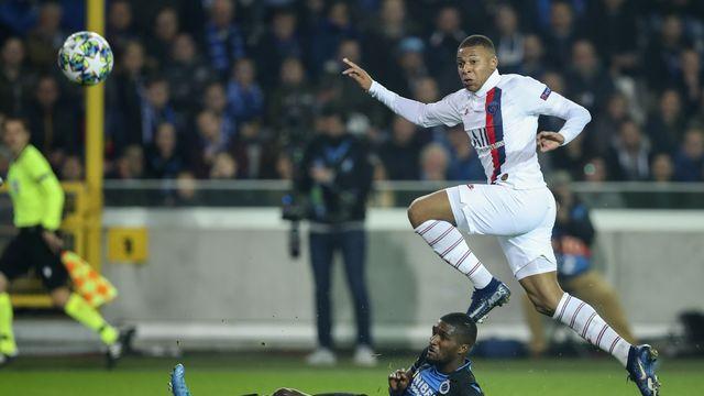 Auteur d'un triplé en Belgique, Kylian Mbappé avait fait le malheur de Bruges au match aller. [Francisco Seco - Keystone]