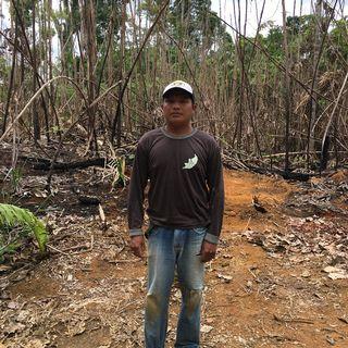 André Karipuna chef tribun indigène Karipuna Amazonie Brésil octobre 2019 [Stephen Mossaz - RTS]