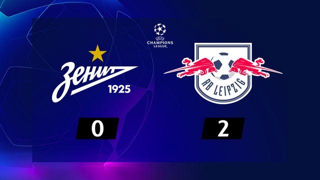 4e j. Gr.G, Zenit St-Pét. - RB Leipzig (0-2): résumé de la rencontre