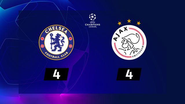 4e j. Gr.H, Chelsea - Ajax Amsterdam (4-4): résumé de la rencontre