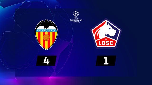 4e j. Gr.H, Valencia - Lille (4-1): résumé de la rencontre