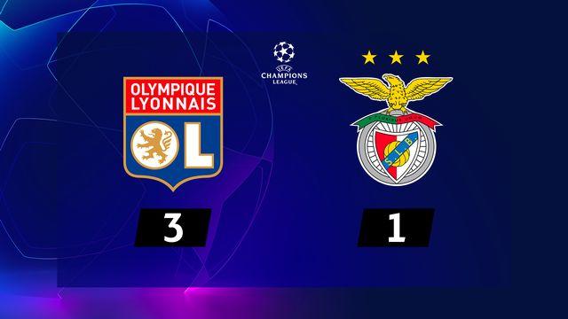 4e j. Gr.G, Lyon - Benfica Lisbonne (3-1): résumé de la rencontre