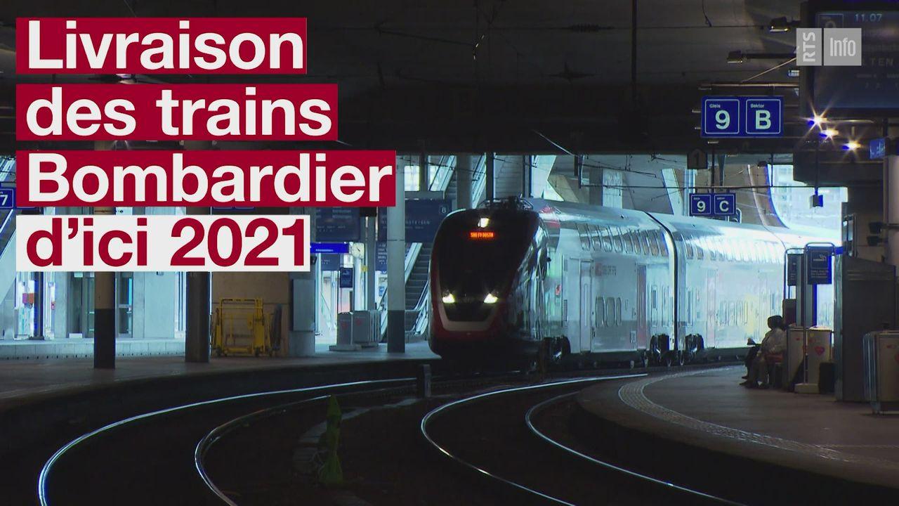 Tous les nouveaux trains Bombardier devraient être livrés aux CFF en 2021 [RTS]